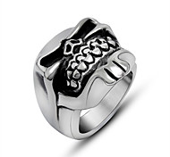 Strong Skeleton Beard Skull Rings for Man Biker's Silver Color Top 316L Stainless Steel Jewelry Accessories Size(US)7-12#