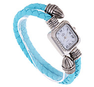 Women's Bracelet Watch Quartz Leather Band Blue