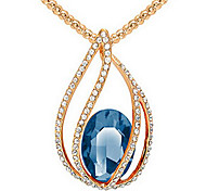 Women's Pendant Necklaces Crystal Chrome Fashion Euramerican Simple Style Dark Blue Purple Red Dark Red Light Blue Jewelry ForWedding