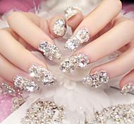 24pc strisce abbastanza alla moda risplendenti lithodomous sposa unghie