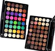 1PCS 40 Color Palette (2 Color Set to Choose) Paleta de Sombras de Ojos Seco Mate Brillo Paleta de sombra de ojos Polvo NormalMaquillaje