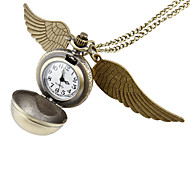 Women's Ball Style with Wing Vintage Alloy Quartz Analog Necklace Watch Cool Watches Unique Watches