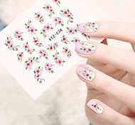 10pcs/set Hot Fashion Nail Art Flower Sticker Beautiful Flower Design Sweet Style Nail Water Transfer Decals Nail Beauty STZ-038