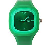 Mulheres Relógio de Moda Quartzo Silicone Banda Casual Verde Roxa Roxo Verde