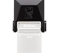Kingston DTDUO3 64GB USB 3.0 Flash Drive OTG Micro USB Mini Ultra-Compact