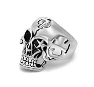 Hot Mens Boy Skull Head Ring 316L Stainless Steel Punk Style Ring Letter 7 Cool Fashion Men Boy Hollow Star Biker Skull Ring