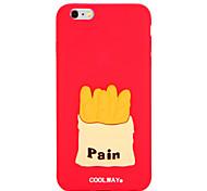 Für Muster Hülle Rückseitenabdeckung Hülle Lebensmittel Weich Silikon für AppleiPhone 7 plus iPhone 7 iPhone 6s Plus iPhone 6 Plus iPhone