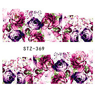 10pcs/style Summer Fashion Colorful Flower Design Nail Art Sticker Beautiful Flower Nail Water Transfer Decals Nail DIY Design STZ-362-369