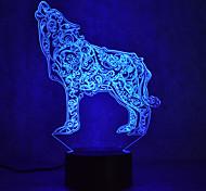 Рождественский волк прикосновение затемнения 3d привело ночник 7colorful украшения атмосферу лампа новинка освещение рождественский свет