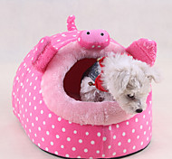 Cat Dog Bed Pet Bed Cute Cartoon Pink Green Red