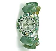 Mulheres Relógio de Moda Quartzo Verde caçador Banda Verde Verde