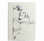 For Card Holder Wallet with Stand Flip Pattern Case Full Body Case Cartoon Hard PU Leather for Apple iPad 4/3/2