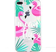 Для Прозрачный С узором Кейс для Задняя крышка Кейс для Фламинго Мягкий TPU для AppleiPhone 7 Plus iPhone 7 iPhone 6s Plus iPhone 6 Plus