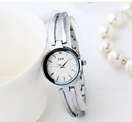 Women's Skeleton Watch Fashion Watch Water Resistant / Water Proof Japanese Quartz Alloy Band Cool Casual Luxury Silver