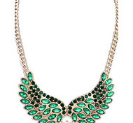 Women's Strands Necklaces Jewelry Jewelry Gem Alloy Euramerican Fashion Light Green Light Blue Black Jewelry ForParty Special Occasion