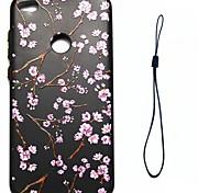 Для huawei p8 lite (2017) p10 футляр обложки цветочный узор впрыск топлива облегчение обшивка кнопка толще тпу материал чехол для телефона