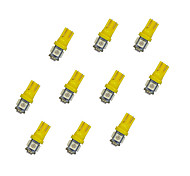 10Pcs T10 5*5050 SMD LED Car Light Bulb Yellow Light DC12V