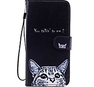 For Samsung Galaxy S8 Plus S8 Case Cover Cat Pattern Painted Card Stent PU Material Phone Case S7 Edge S7 S6 S5