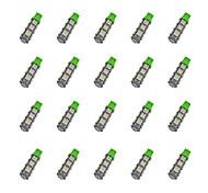 20pcs t10 13 * 5050 smd вело свет электрической лампочки автомобиля dc12v электрической лампочки