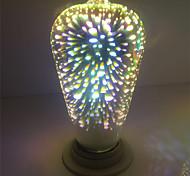 4W E27 Bombillas LED de Globo ST64 28 LED Integrado 350 lm Blanco Cálido Decorativa AC 85-265 V 1 pieza