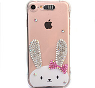 For Apple iPhone 7 7 Plus 6S 6 Plus Case Cover Rabbit Pattern Diamond Drop Comes With Call Flash TPU Material Phone Case
