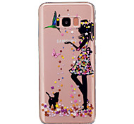 For Samsung Galaxy S8 Plus S8 Case Cover Girl Pattern Painted High Penetration TPU Material IMD Process Soft Case Phone Case S4 S5 (Mini)