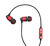 Mobile Earphone for Computer In-Ear Wired Metal 3.5mm With Microphone Noise-Cancelling