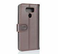 Для lg g6 держатель карты бумажник флип-чехол полный чехол корпуса сплошной цвет твердый натуральная кожа для lg