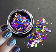 1bottle блеск красочный моды ногтей лазерный блеск круглый блестка фрагмент украшение для 3D красоты ногтей искусство p4