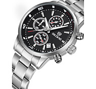 Men's Fashion Watch Mechanical Watch Quartz Stainless Steel Band Silver