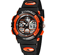 Men's Fashion Watch Digital PU Band Black