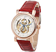 Men's Fashion Watch Chinese Quartz Leather Band Red