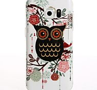 For Galaxy S7 S8 S7 Edge S8 Plus Cartoon Black Owl TPU Protection Back Cover Box