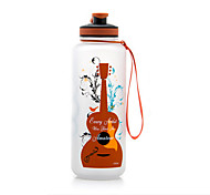 Cartoon Guitar and Saxophone Water Bottle 1500ml