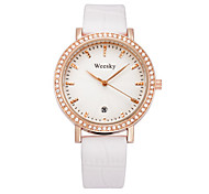 Women's Fashion Watch Chinese Quartz Leather Band White Red Purple