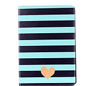 For Apple iPad Pro 9.7'' iPad 5 iPad 6 Case Cover Striped Love Pattern Card Stent PU Material Flat Protection Shell