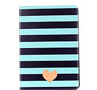 Для яблока ipad pro 9.7 '' ipad 5 ipad 6 крышка случая полосатая карточка влюбленности картина стент pu материал плоский защитный кожух