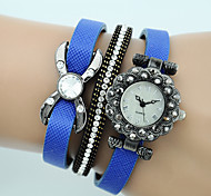 Women's Fashion Watch Bracelet Watch Quartz Leather Band Casual