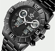 WEIDE Men's Fashion Watch Quartz Stainless Steel Band Silver
