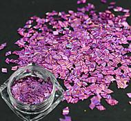 1 бутылка романтический стиль новой моды фиолетовый дизайн ногтей искусство DIY красоты лазерной полосой ромб тонкий срез блеск