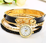 Women Bracelet Watch Chinese Quartz Colorful Alloy Band Bangle Black White Blue Red Khaki