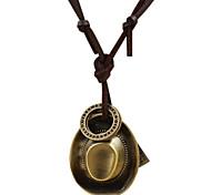 Муж. Ожерелья-бархатки Ожерелья с подвесками Круглый Крестообразной формы Геометрической формыУникальный дизайн Мода Крест Духовное