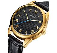 Men's Fashion Watch Quartz Alloy Band Casual Silver Gold Rose Gold Rose Gold Silver Gold