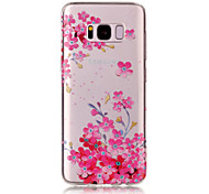For Samsung Galaxy S8 Plus S8 TPU Material IMD Process Plum Blossom Pattern Phone Case S7 Edge S7 S6 Edge S6 S5