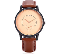 Unisex Fashion Watch Quartz watch with small seconds dial Leather Band Vintage Casual Brand