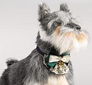Кошка собака регулируемый кружевной воротник бабочка с колокольчиками