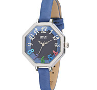 Women's Fashion Watch Japanese Quartz / Leather Band Casual White Blue Brown LightBlue White