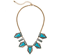 Women's Pendant Necklaces Geometric Chrome Unique Design Personalized Light Blue Jewelry For Gift Outdoor 1pc