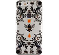 Для яблока iphone 7 7 плюс 6s 6 плюс se 5s 5 крышка пчелиного укрытия и цветочным узором падение клей лак высокое качество тпу материал