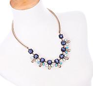 Women's Strands Necklaces Geometric Chrome Unique Design Personalized Dark Blue Jewelry For Housewarming Congratulations Casual 1pc